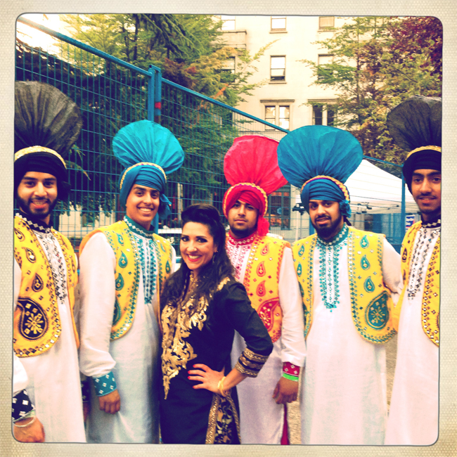Anjali with members of Surrey Folk Bhangra Club