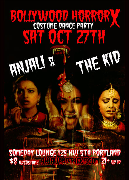 Bollywood Horror Portland Halloween Party w/ DJ Anjali & The Incredible Kid